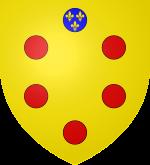 メディチ家の紋章。赤い丸印は吸い玉を表すという説も。